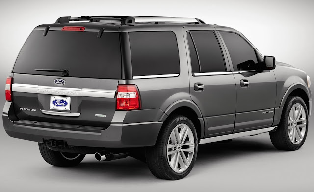 2015 Ford Expedition grey rear view