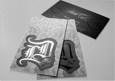 Tarjeta de presentación impresa en serigrafía