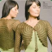 Chaleco tejido a Crochet