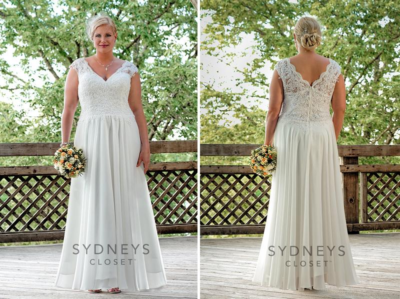 Plus Size White Ivory Simple Wedding Dress Bridal Gown: Mature Brides 2nd Wedding Dress Plus Size