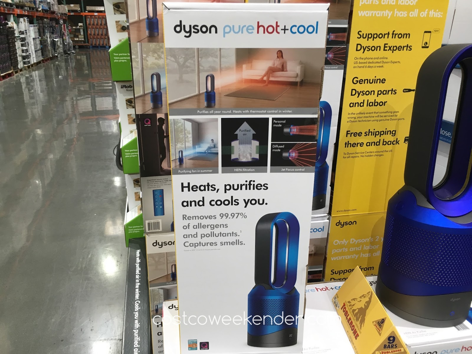dyson pure hot cool link purifier costco weekender. Black Bedroom Furniture Sets. Home Design Ideas