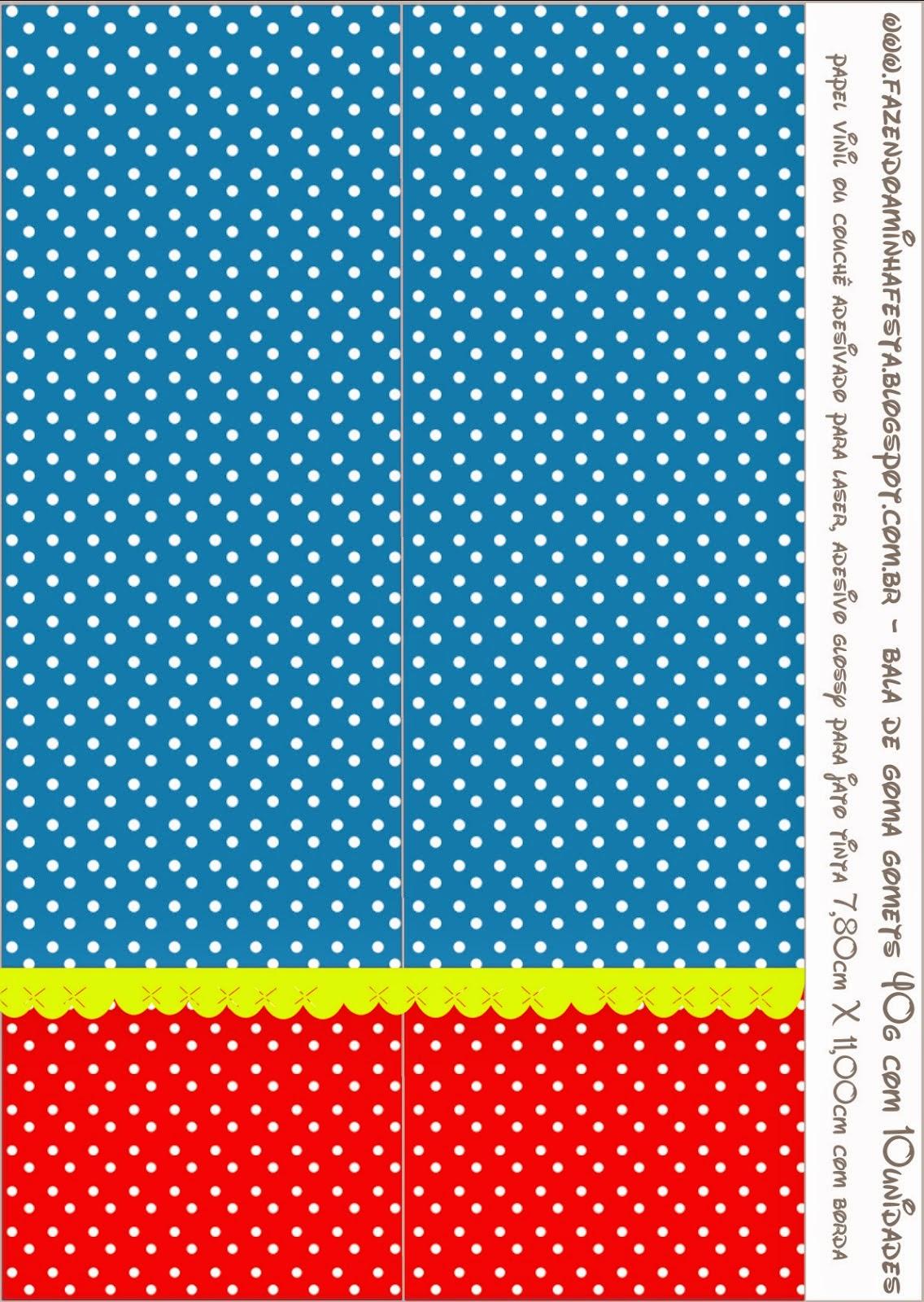 Etiquetas de Rojo, Amarillo y Azul para imprimir gratis.