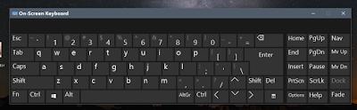 onscreen keyboard windows ten