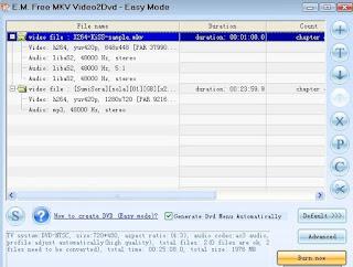 MKV Video2Dvd
