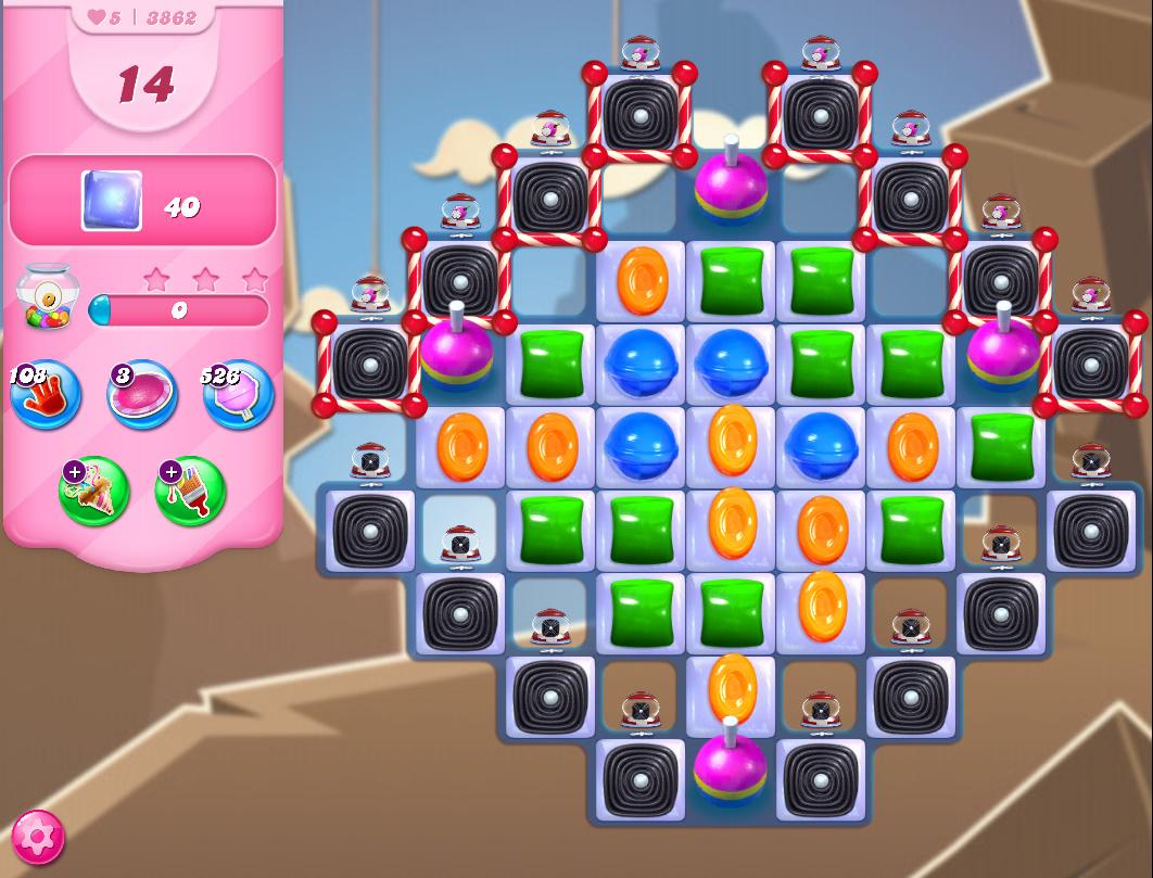 Candy Crush Saga level 3862