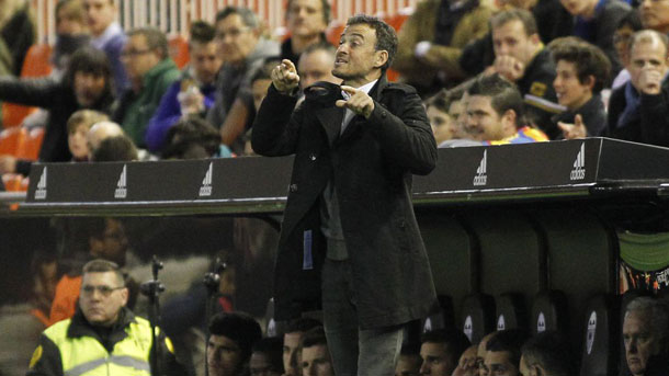 Luis Enrique valoró la vuelta de semifinales de Copa en Mestalla