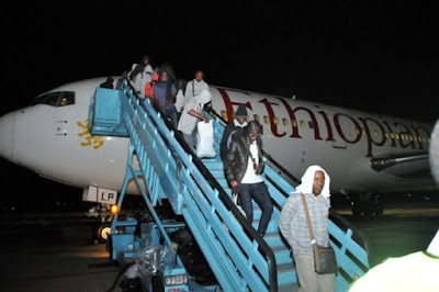 Stranded football fans in Russia return to Nigeria