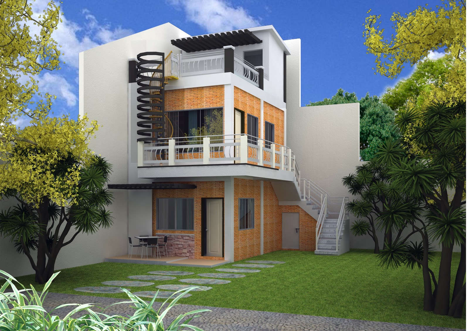 Three story home designs home design ideas for 3 story house design