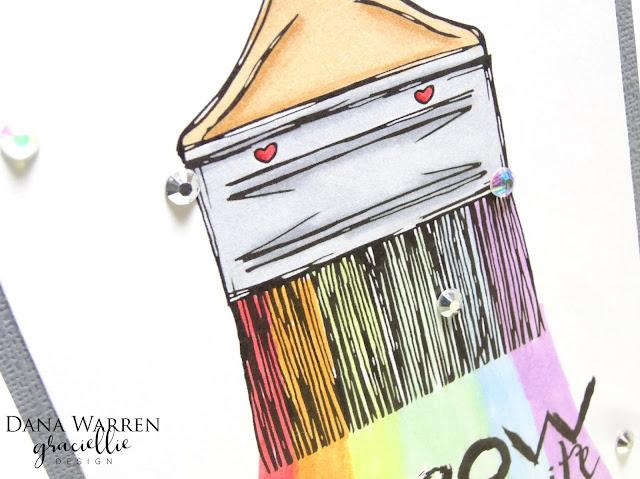 Dana Warren - Kraft Paper Stamps - Graciellie Designs - Spectrum Noir Markers