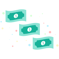 illustration of money banknotes
