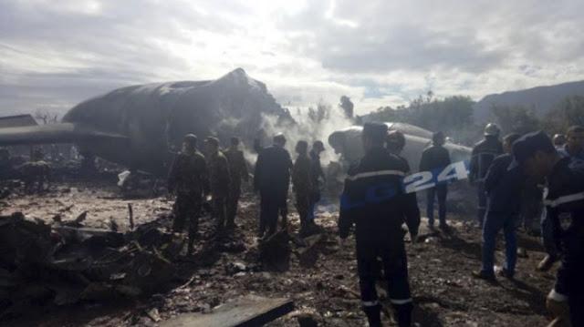 Pesawat Militer Aljazair Jatuh, 257 Orang Tewas