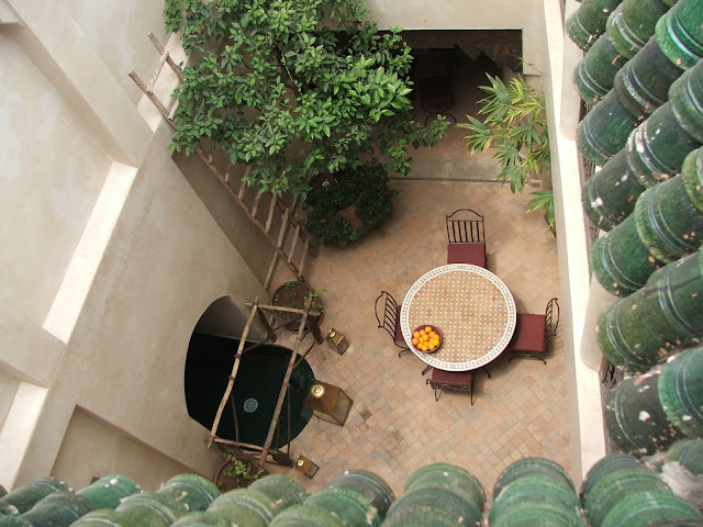 cortile interno riad Marrakech