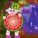 Play Games4King Watermelon Girl Rescue
