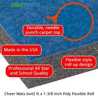 Greatmats Cheerleading Mats infographic