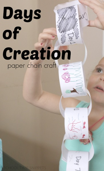 days of creation craft for kids