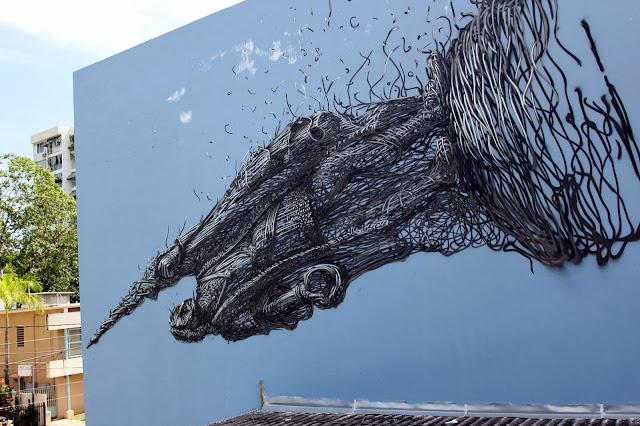 Street Art By Chinese Artist DALeast For Los Muros Hablan '13 In Puerto Rico. 7