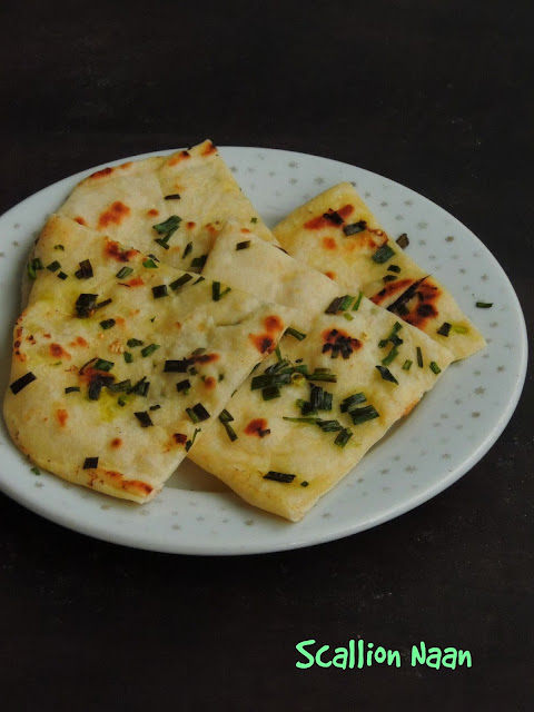 Green Onion Naan, Scallion Naan