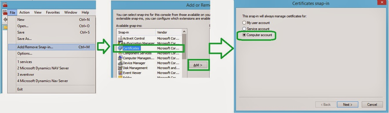 NAV 2013 & NAV 2013 R2 - Web Services With Non Qualified SSL