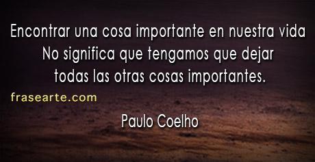 Cosas importantes de la vida – Paulo Coelho