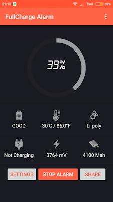 Aplikasi Alarm Full Baterai Xiomi Redmi 4x