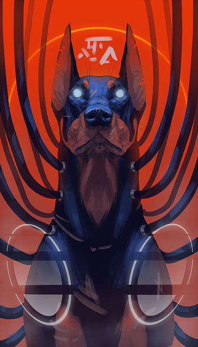 Doberman by Mozakade
