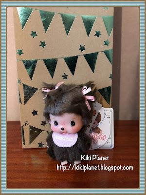 kiki monchhichi mascot big head girl bebichhichi porte clés