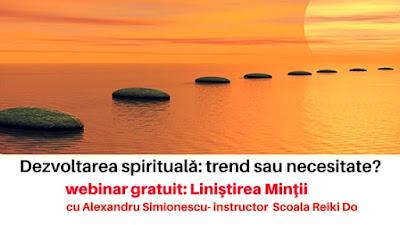 webinar gratuit cu Alexandru Simionescu, instructor Scoala Reiki Do