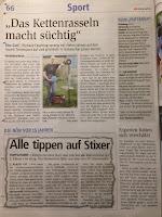 NÖN Artikel über den Schwechater Verein Putterfly Disc Golf