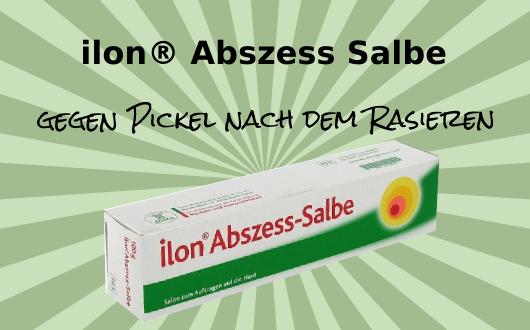 Ilon® Abszess-Salbe bekämpft Pickel nach der Rasur - auch im Intimbereich