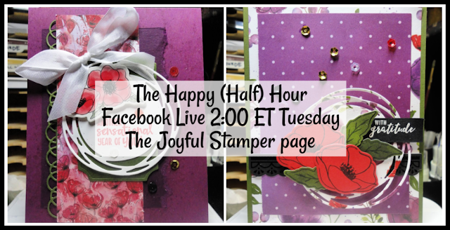 The Happy (half) Hour Facebook Live Stamping Class with Nicole Steele | 2 PM ET on The Joyful Stamper Facebook page