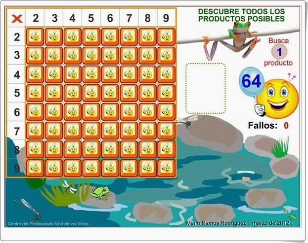 Juegos Educativos De Matematicas Online La Rana Y La Tabla Pitagorica