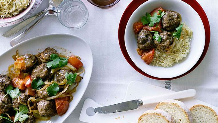 tsp each of ground allspice and ground cardamom Lamb meatballs with Lebanese rice recipe