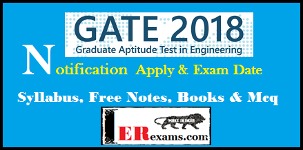GATE 2018: Apply Date, Exam Date, Syllabus, Free Notes, Notification