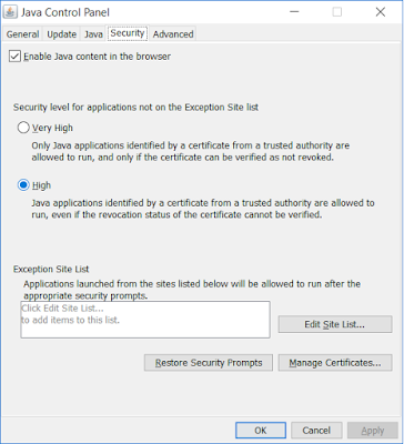 """Cause of """"java.lang.SecurityException: Missing required Permissions manifest attribute in main jar"""""""