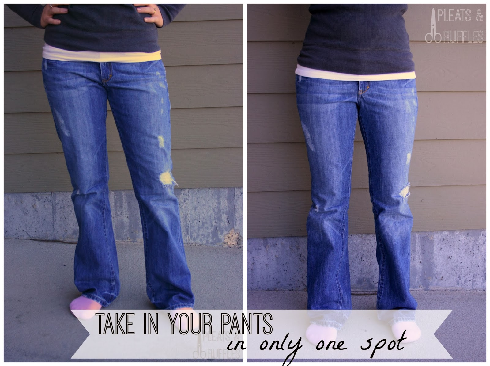 your zipper will bulge