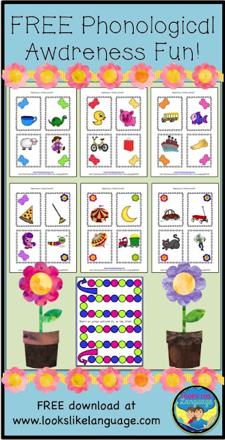 Get this FREE Phonological Awareness Game from Looks Like Language now!