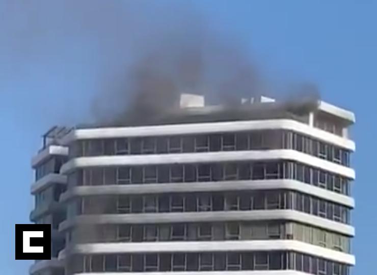 Video: Se quema un piso de la Torre Atiemar