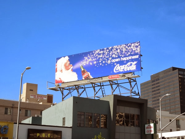 Coca Cola santa Christmas 2013 billboard