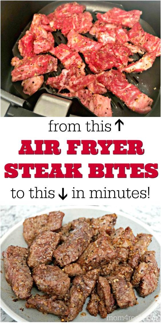 Easy Air Fryer Steak Bites