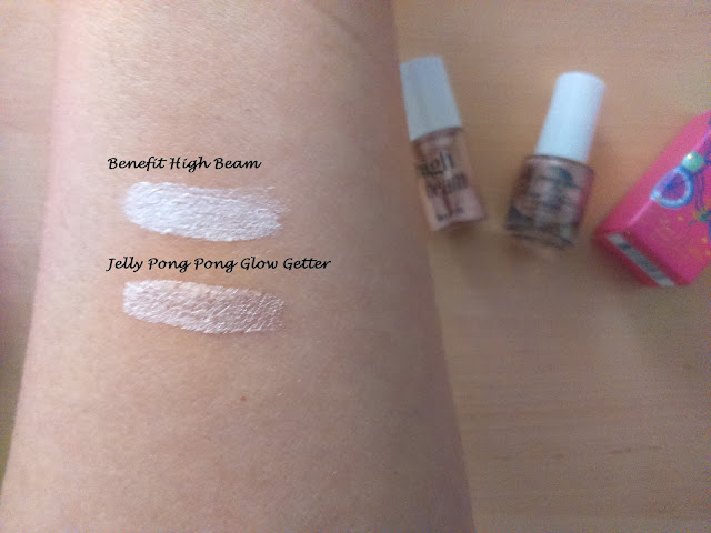 Jelly Pong Pong Glow Getter vs Benefit High Beam