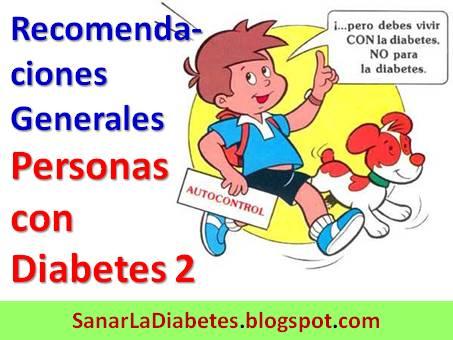 Recomendaciones Generales para Personas con Diabetes Tipo