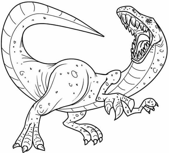 Tranh tô màu khủng long cơ bản
