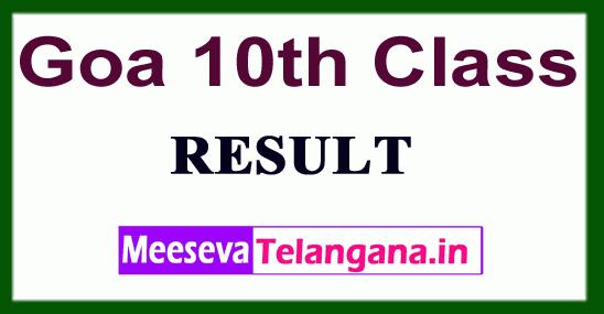 Goa 10th Class Results