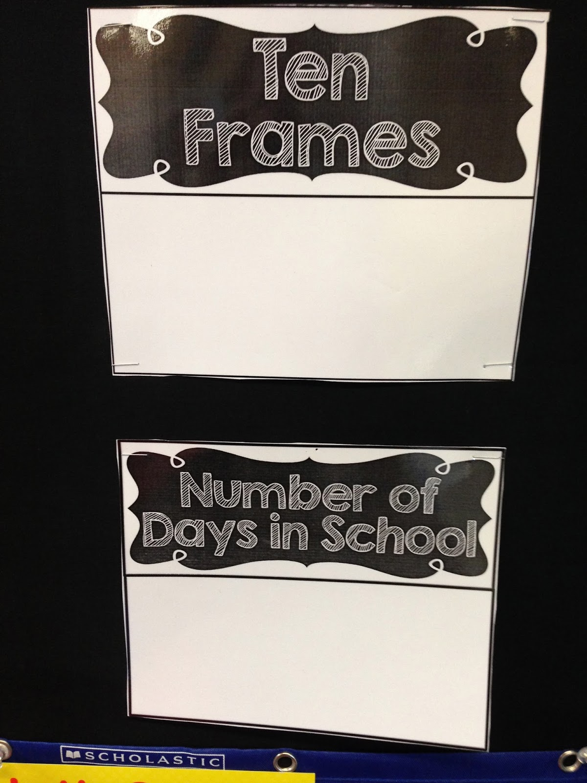 calendar wall, math wall, calendar time, kindergarten math wall, ten frames