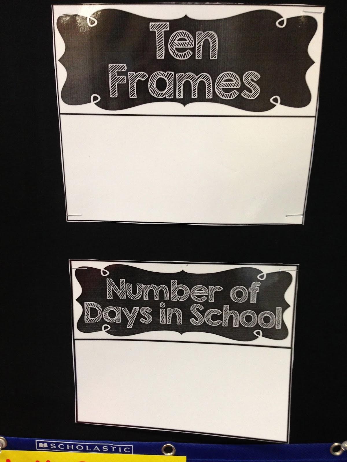 calendar wall, math wall, calendar time, kindergarten math wall, ten frames