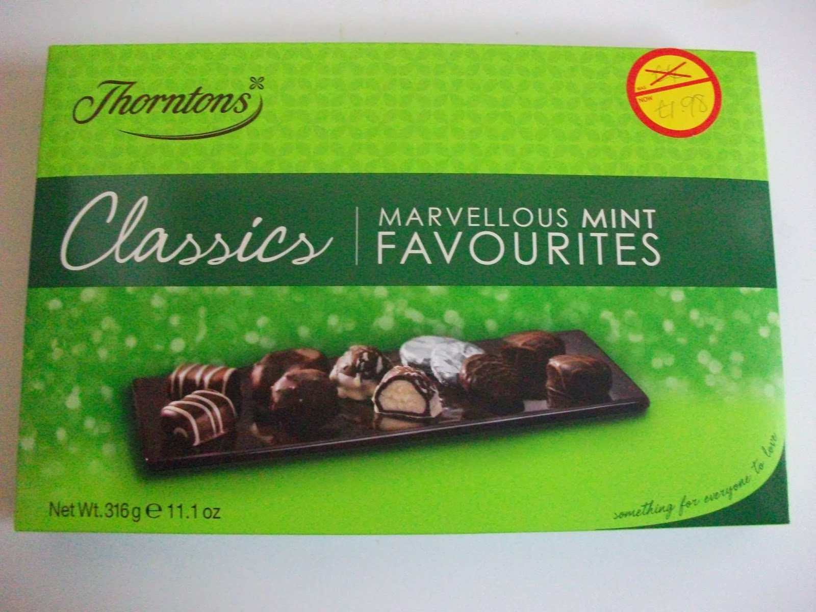 Post Xmas Bargains Thorntons Mint Classics Giant Quality