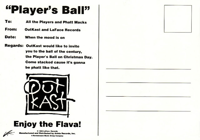 Outkast Player's Ball Postcards Back