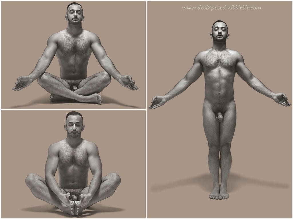 Desi Gay Desires Desi Nude Yoga-5242