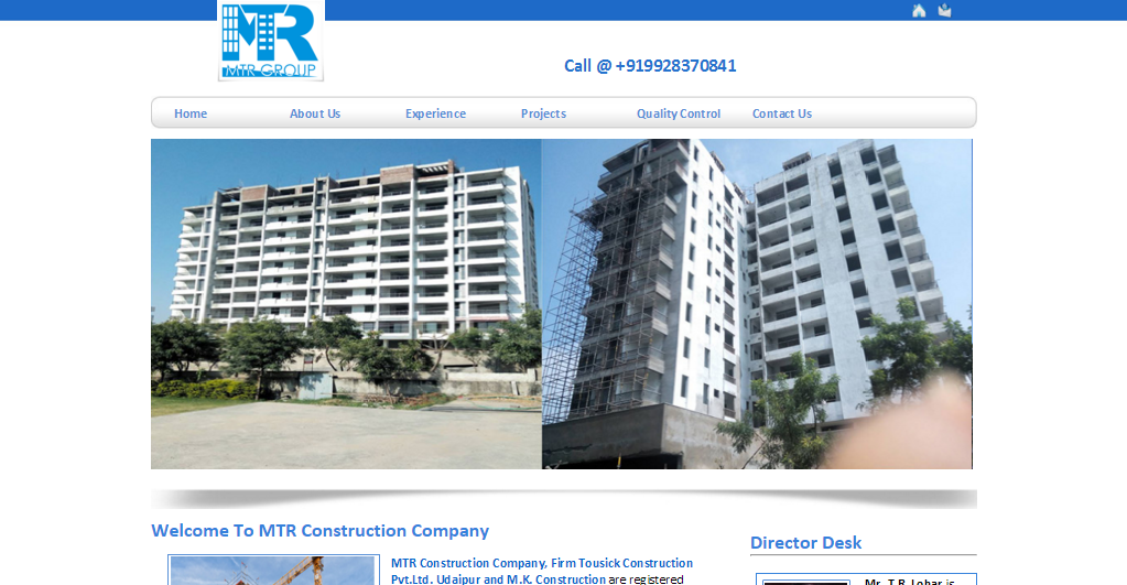 Web Design In Udaipur: MTR Construction Udaipur  construction