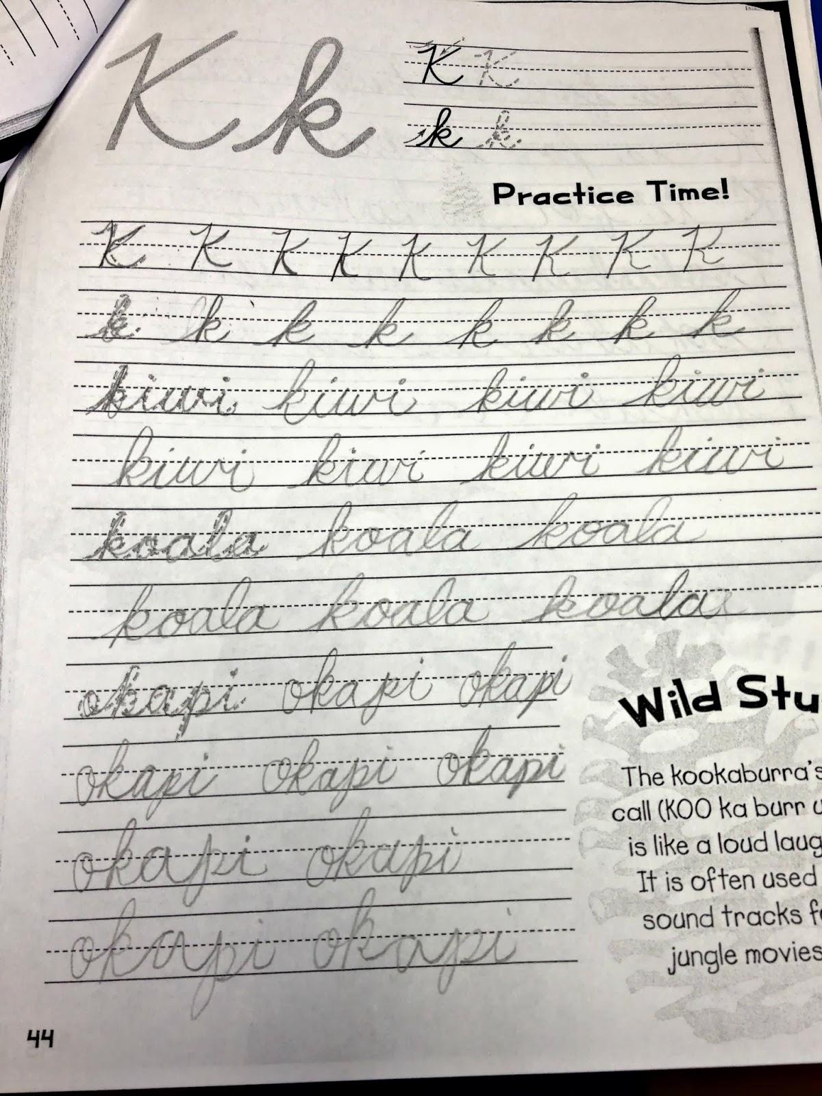 Punk Rock Parents Homeschool Week 22 Cursive Writing